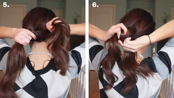 knotted ponytail 5 & 6