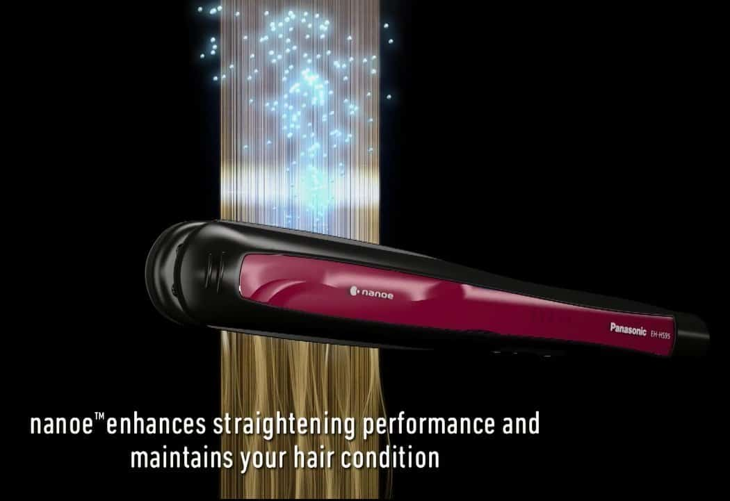 Panasonic EH-HS95 Smooth and Shiny Hair Straighteners Review pansonic nanoe