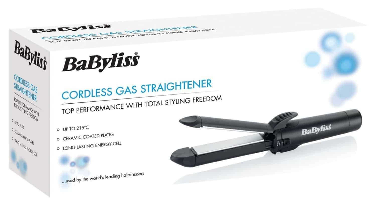 Babyliss Professional Cordless Gas Hair Straighteners package