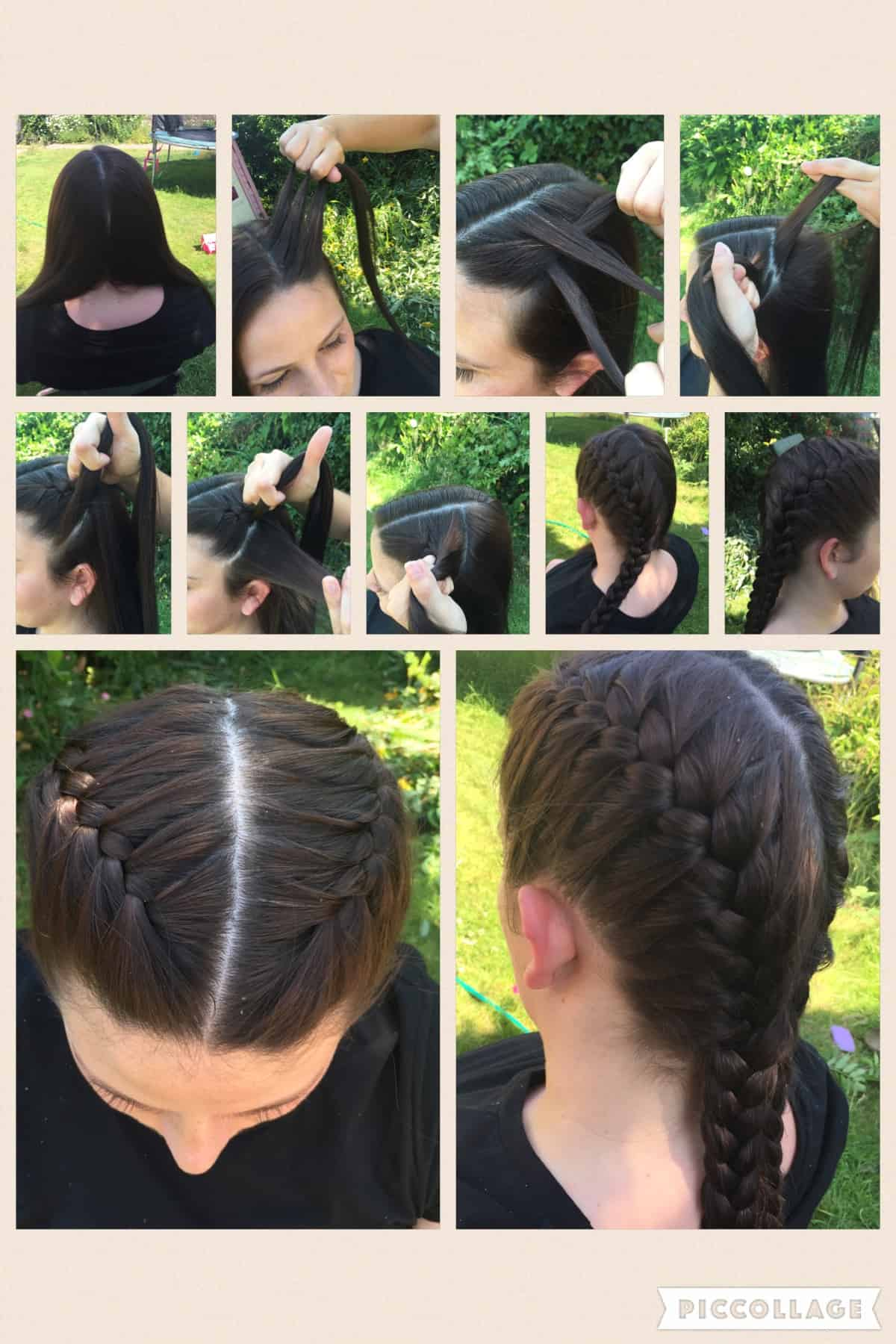 two french plaits