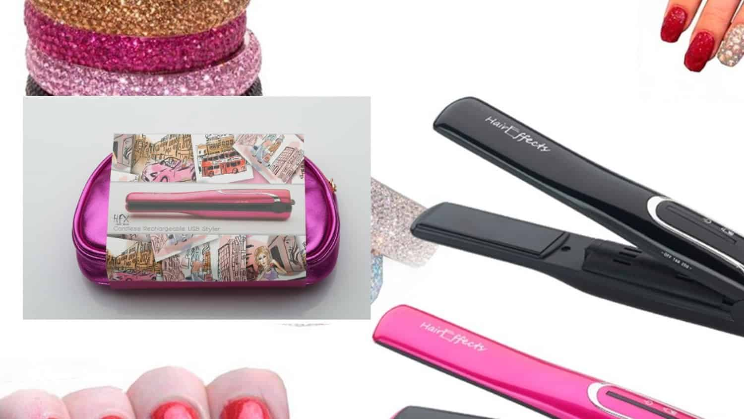 HFX Rechargeable USB Cordless Hair Straightener colours