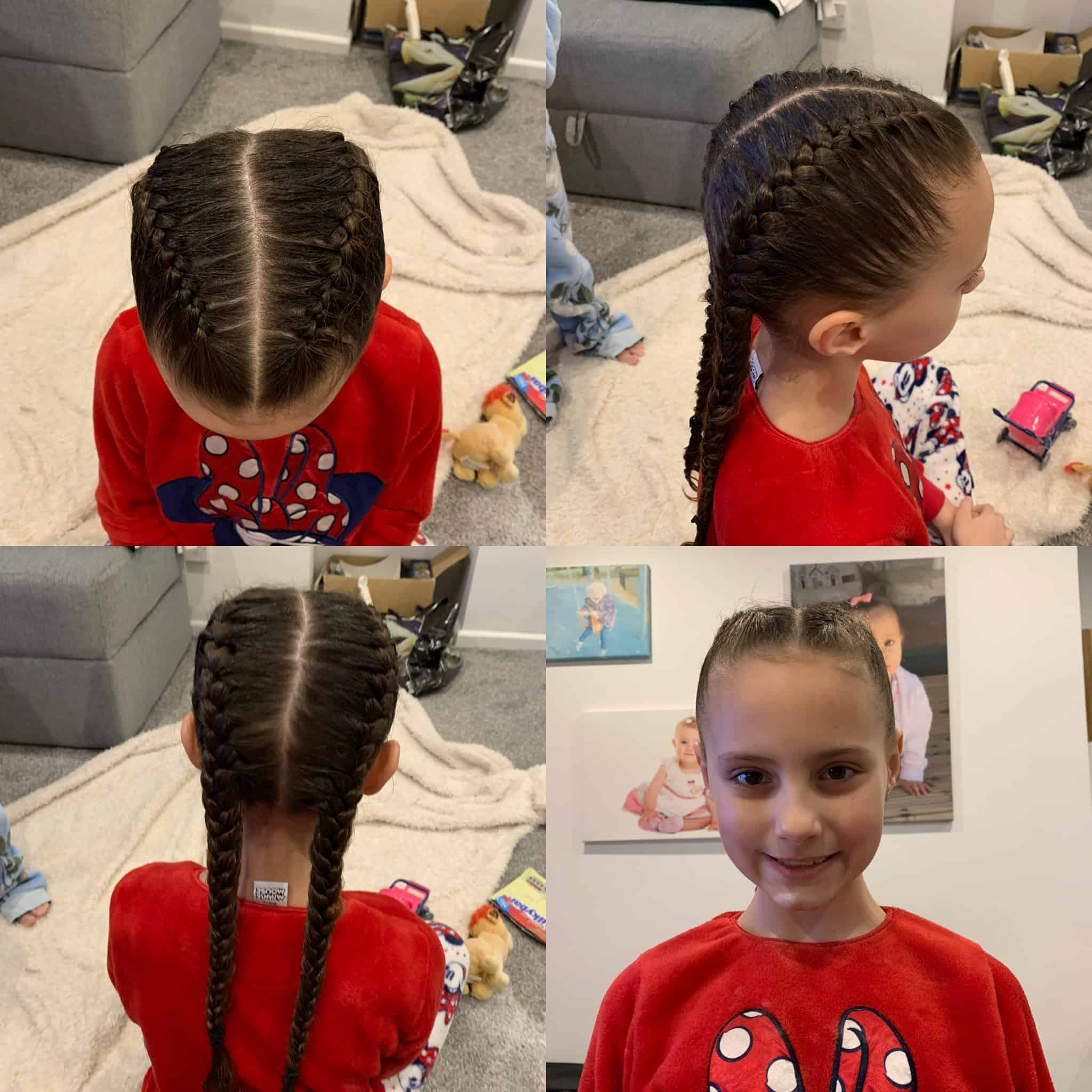 2 x french plaits