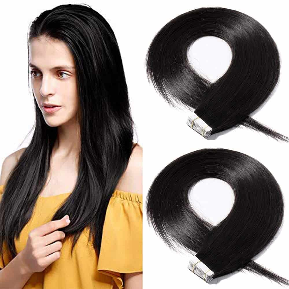 24 inch Tape in Hair Extensions Human Hair