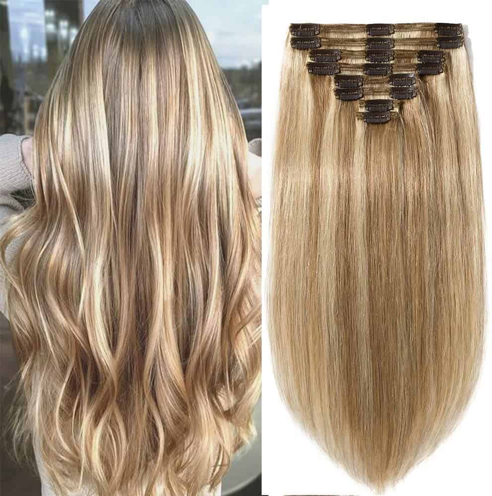 20 inch double weft human hair extensions